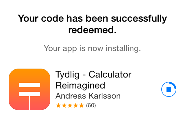 Apple Store (free app, Tydlig 005)