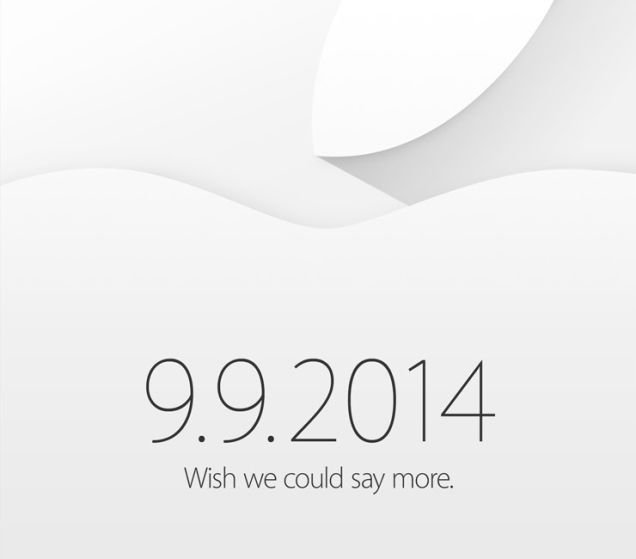 Apple invite (September 9 event, 20140909)