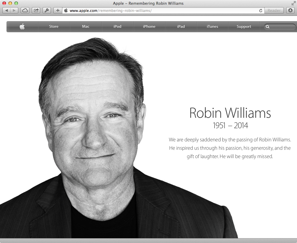 Apple.com (Robin Williams tribute 001)