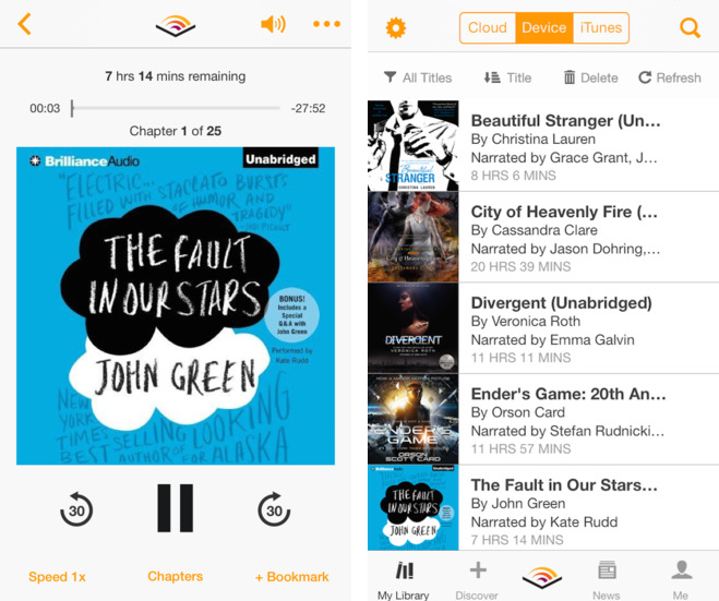 Audible 1.2 for iOS (iPhone screenshots 001)