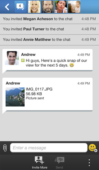 BBM for iOS 2.3.0.12 (iPhone screenshot 002)