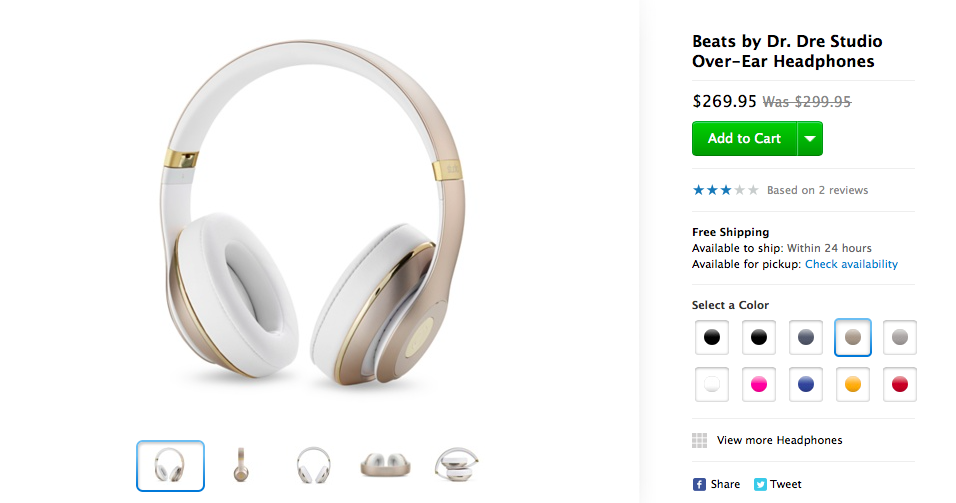 Beats by Dr Dre headphones on Apple Store (image 001)