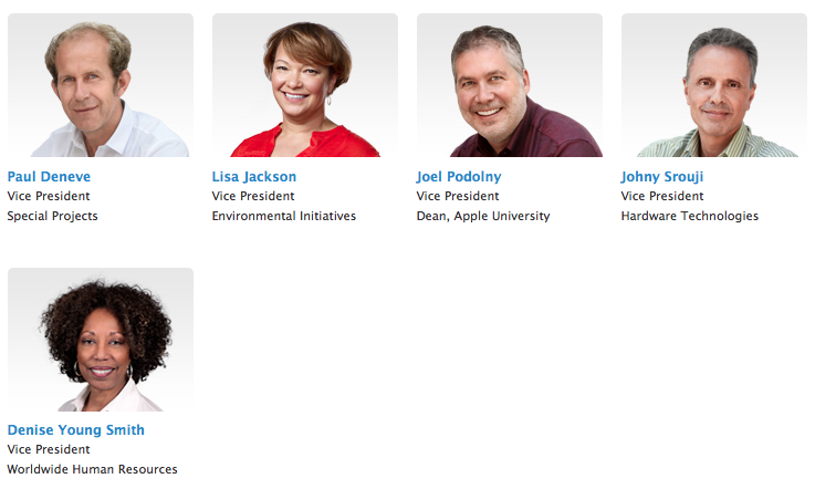 Diversity new apple executive profiles
