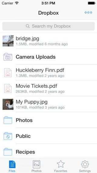 Dropbox 3.3 para iOS (captura de pantalla iPhone 002)