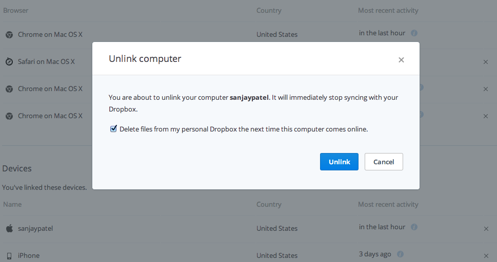 Dropbox Pro (Remote wipe)