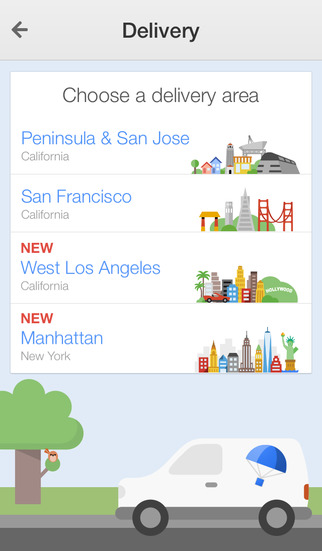 Google Shopping Express 2.0 for iOS (iPhone screenshot 001)