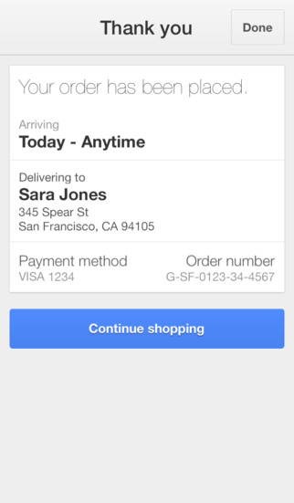 Google Shopping Express 2.0 for iOS (iPhone screenshot 005)