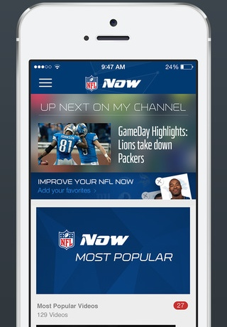 NFL Now 1.0 for iOS (iPhone screenshot 001)