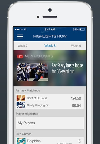 NFL Now 1.0 for iOS (iPhone screenshot 002)