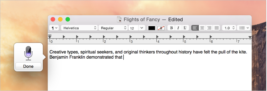 OS X Mavericks (Dictation, TextEdit 001)