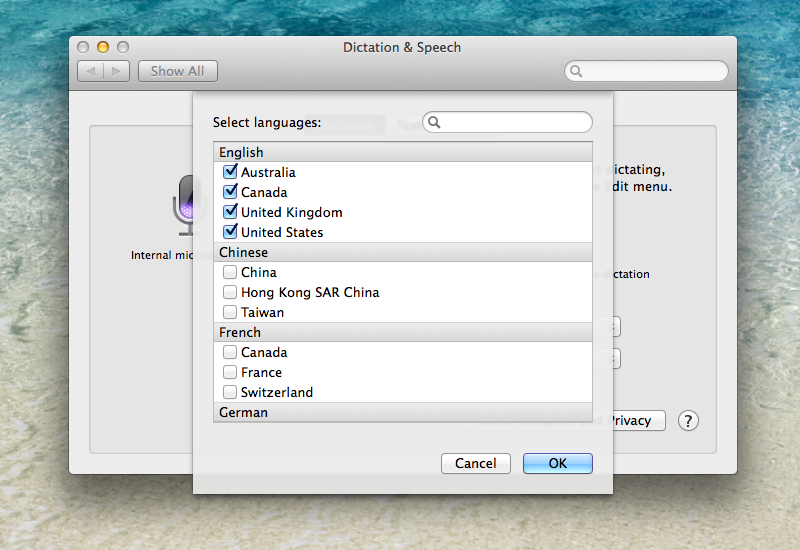 OS X Mavericks (how to Enhanced Dictation, System Preferences, Dictation and Speech 008)