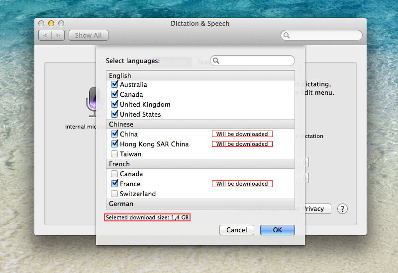 OS X Mavericks (how to Enhanced Dictation, System Preferences, Dictation and Speech 009)