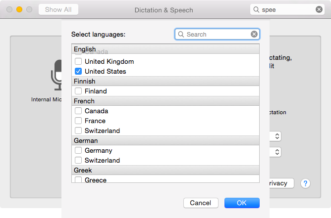 OS X Yosemite (how to Enhanced Dictation, System Preferences, Dictation and Speech 001)