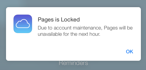 Pages is locked