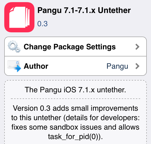 Pangu untether jailbreak update