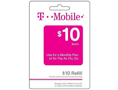 T-Mobile (10USD prepaid card)