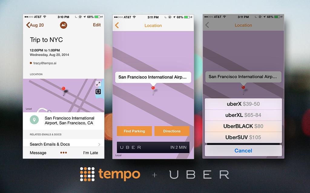 Tempo Smart Calendar 1.4.2 for iOS (Uber integration)
