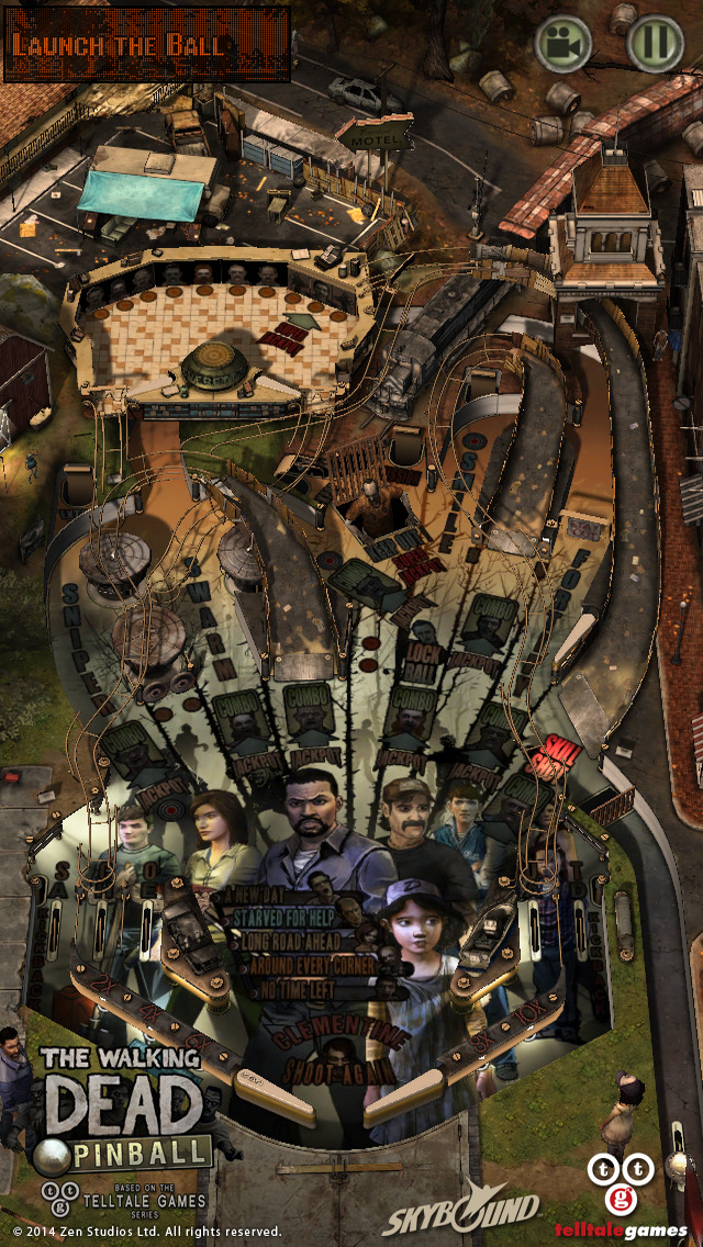 The Walking Dead Pinball 1.0 for iOS (iPhone screenshot 001)