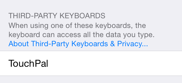Third Party Keyboards