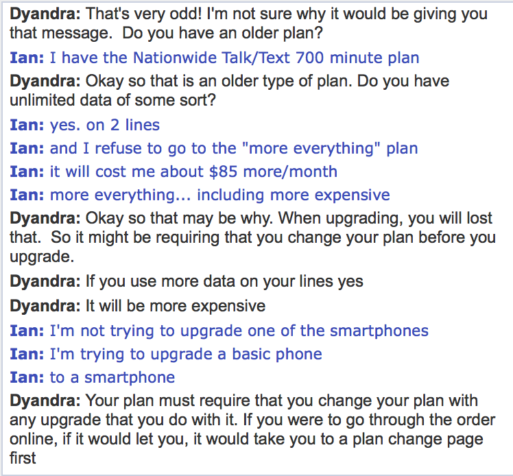 Verizon customer service (screenshot 001)