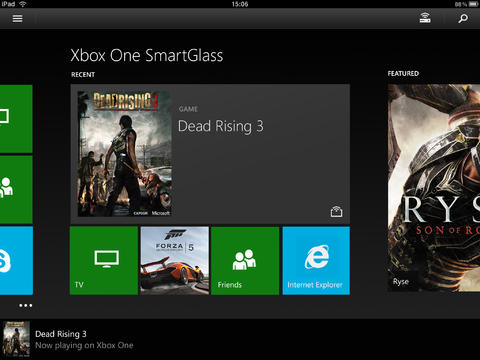 Xbox One SmartGlass 2.8 for iOS (iPad screenshot 001)