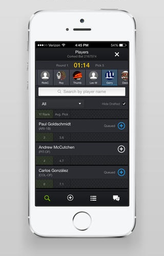 Yahoo Fantasy Sports 5.10 for iOS (iPhone screenshot 001)