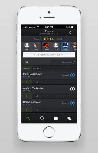 Yahoo Fantasy Sports 5.10 para iOS (captura de pantalla 001 de iPhone)