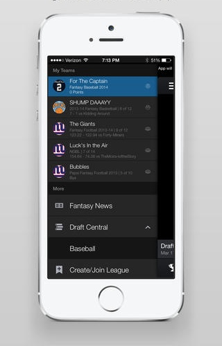 Yahoo Fantasy Sports 5.10 for iOS (iPhone screenshot 002)