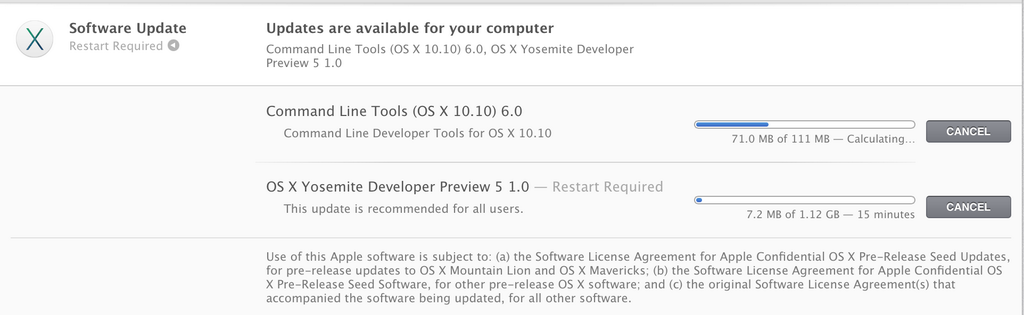 Yosemite Beta 5 update download