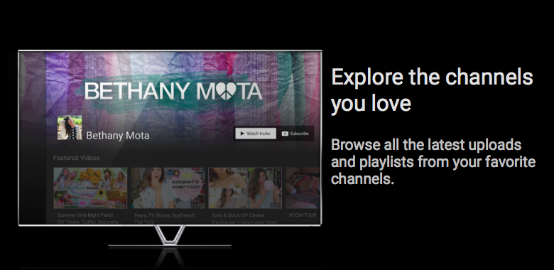 YouTube for TV (preview 002)