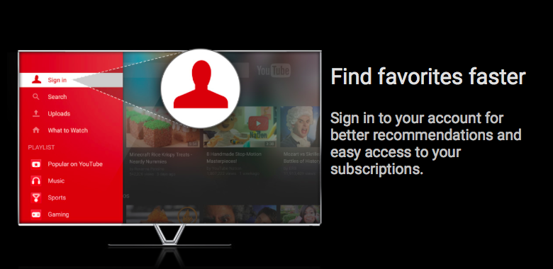 YouTube for TV (preview 003)