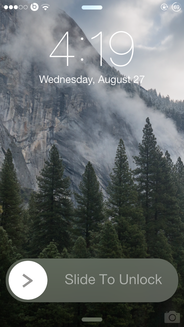 BlurSlide gives a new look to your 'Slide to Unlock' slider