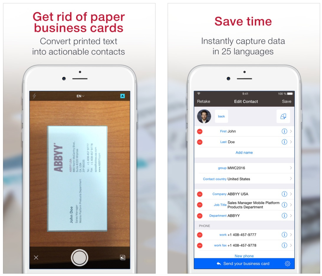 The best business card scanner apps for iphone i guess at this point app names are all getting taken up and you have to get creative with titles with this app you can capture business card colourmoves