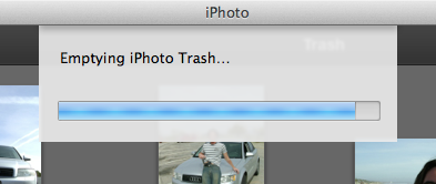 emptying iPhoto trash