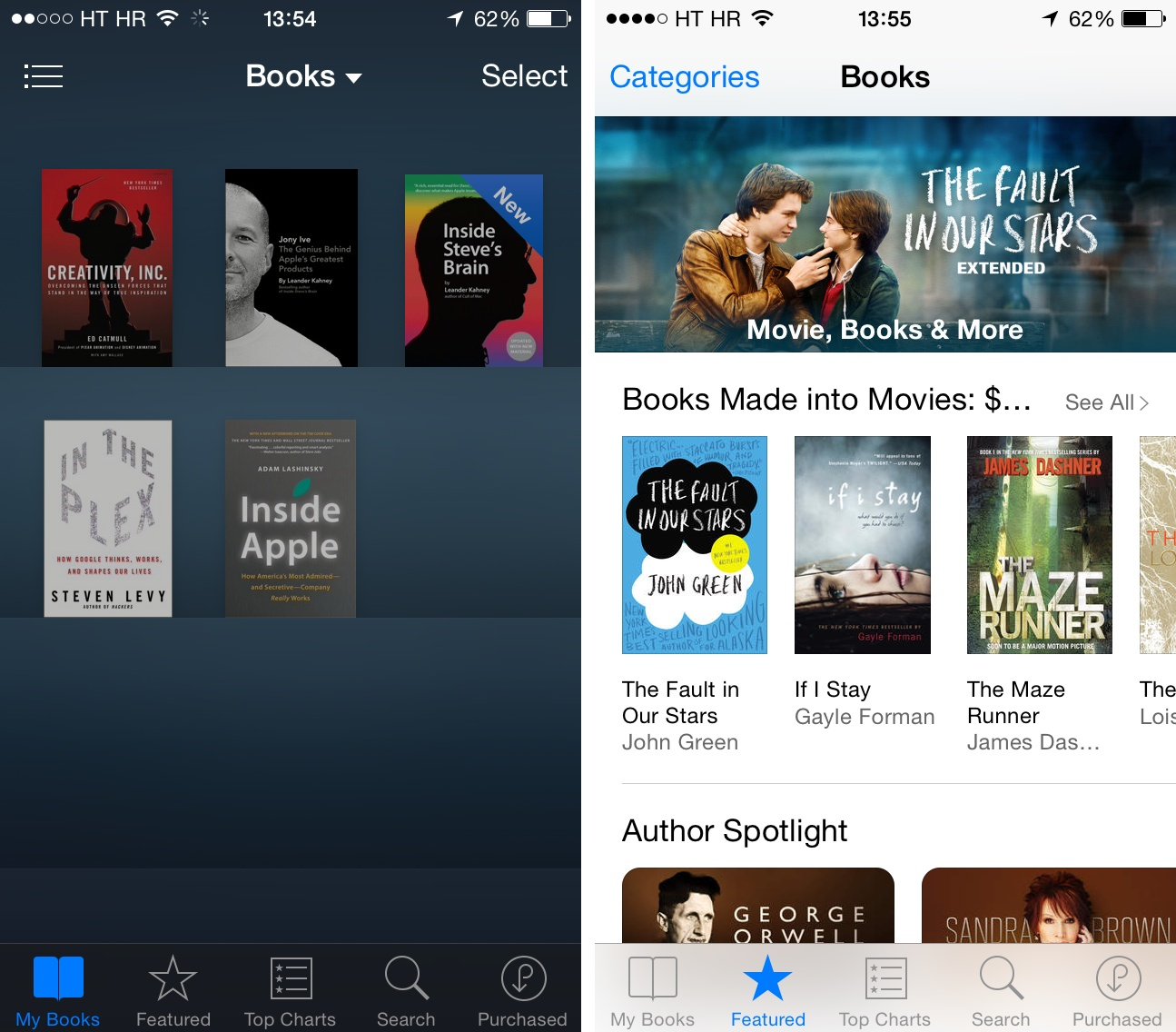 iBooks on iPhone