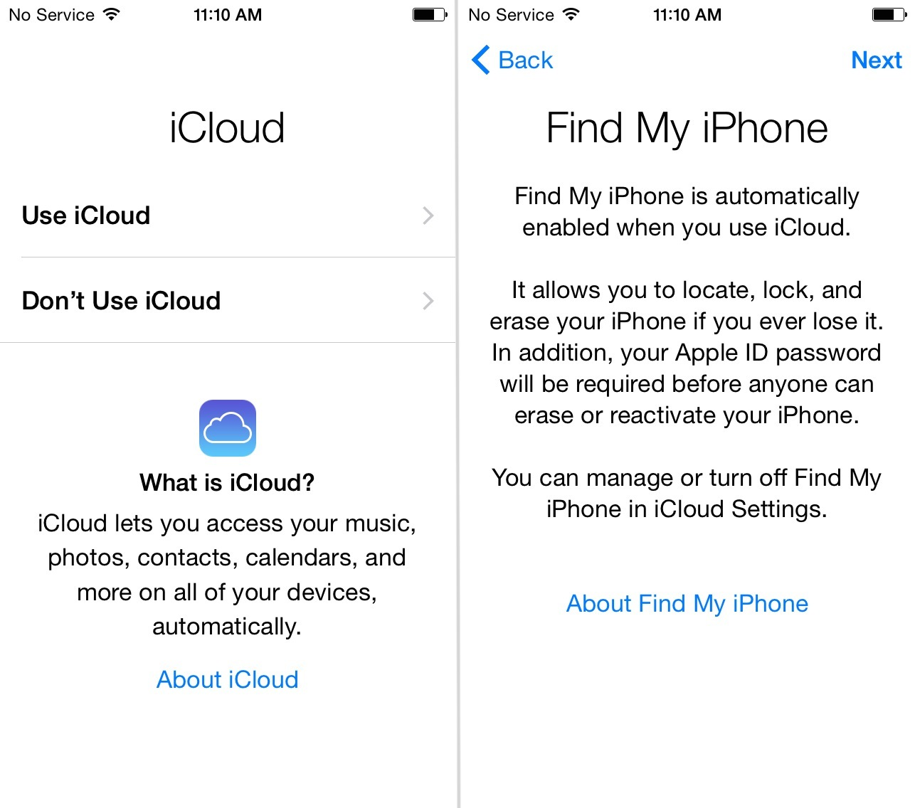 iCloud Find My iPhone