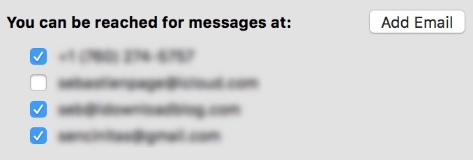 iMessage can be reach at on Mac
