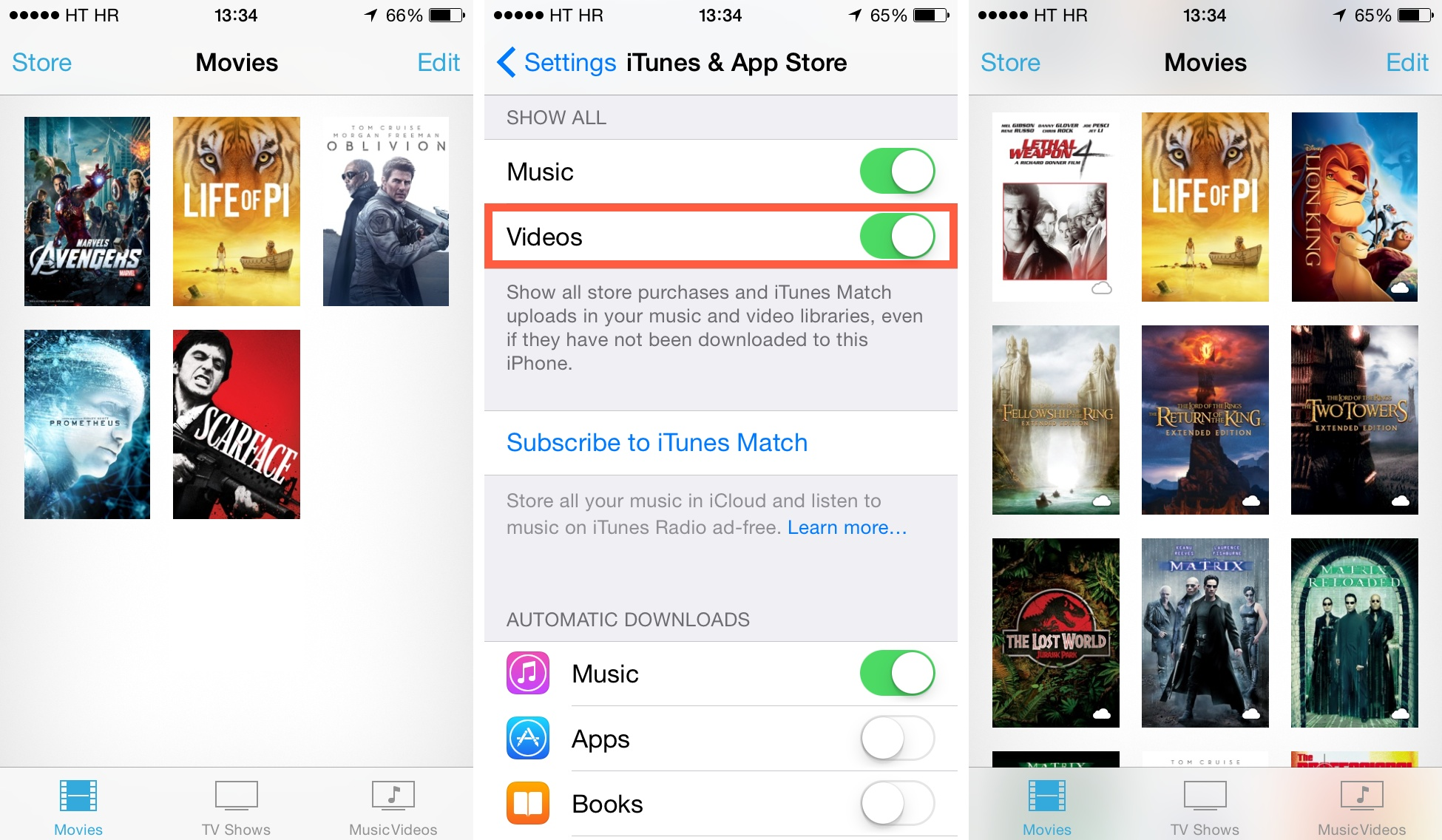 iOS 7 (how to delete Videos, Local and iCloud 001)