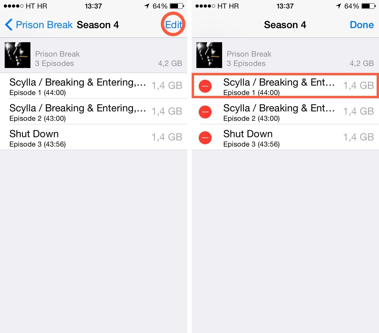 iOS 8 (how to delete Videos, Storage 004)