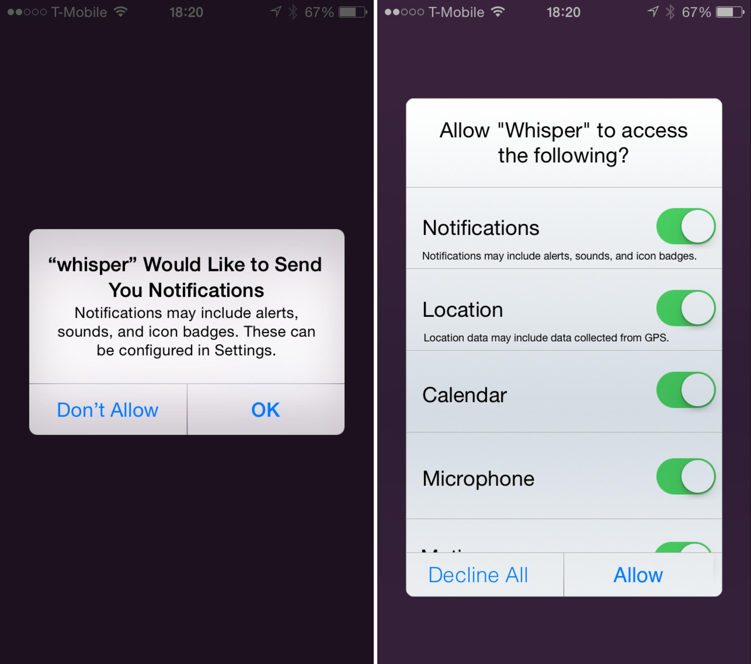 iOS Permission Handling