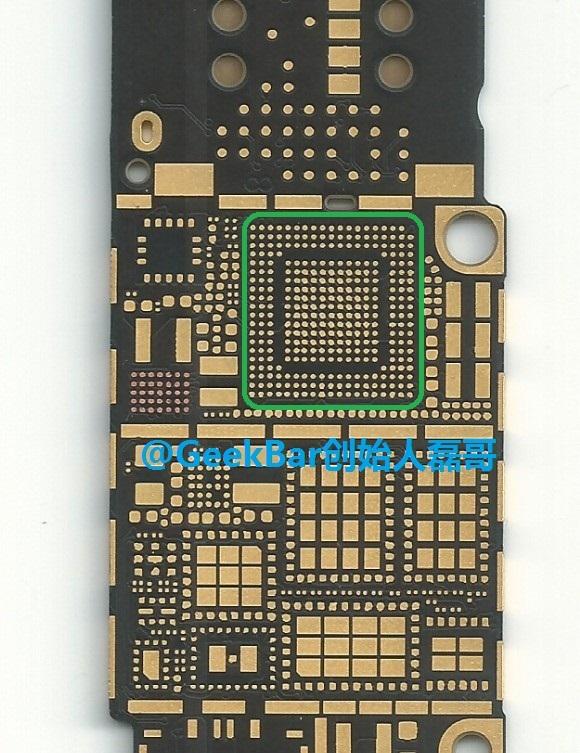 iPhone 6 (logic board, Qualcomm MDM9625 modem, GeekBar 001)
