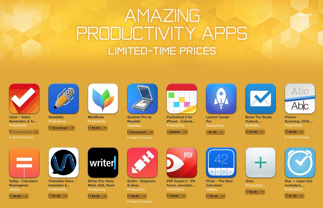 itunes productivity apps