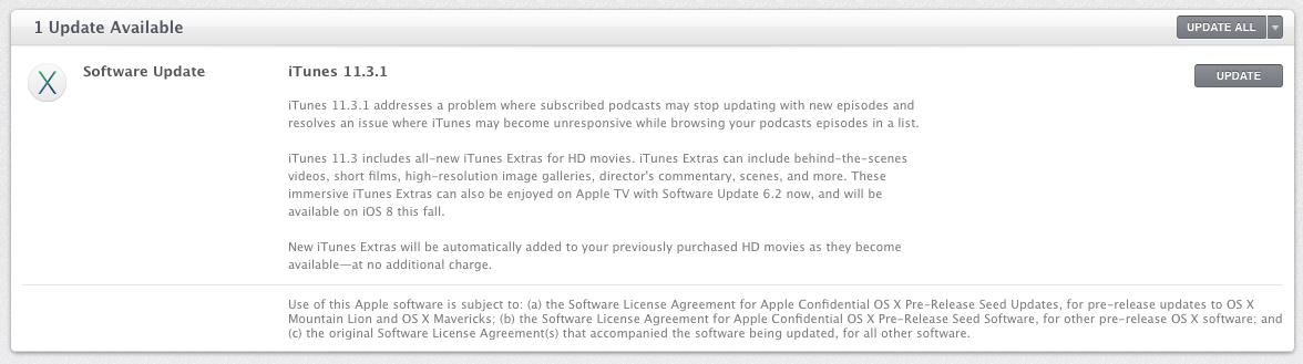 Apple releases iTunes 11 3 1 with podcast-related bug fixes