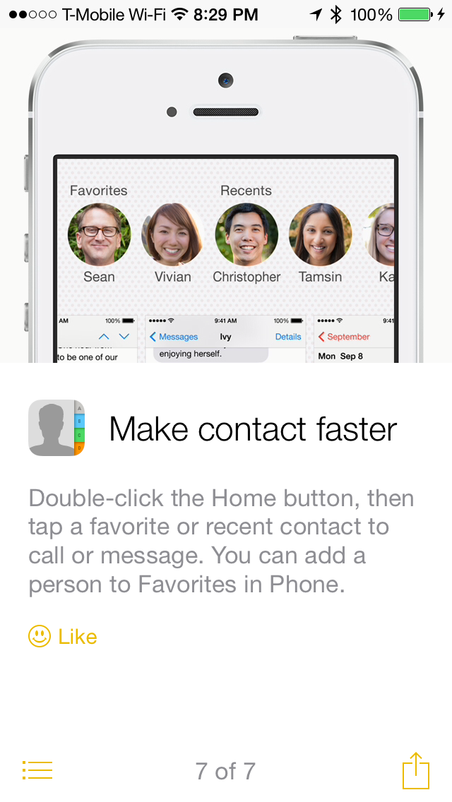 new tip ios 8 contacts