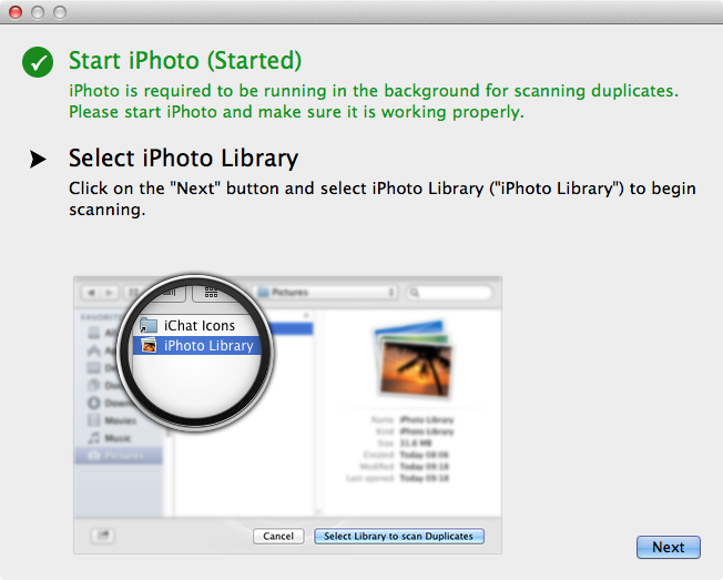 select iPhoto library