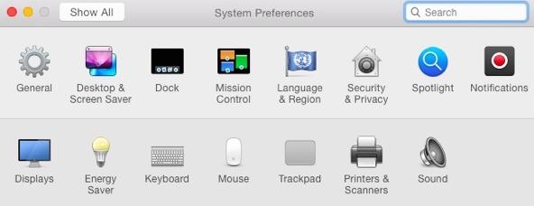 system preferences dp5