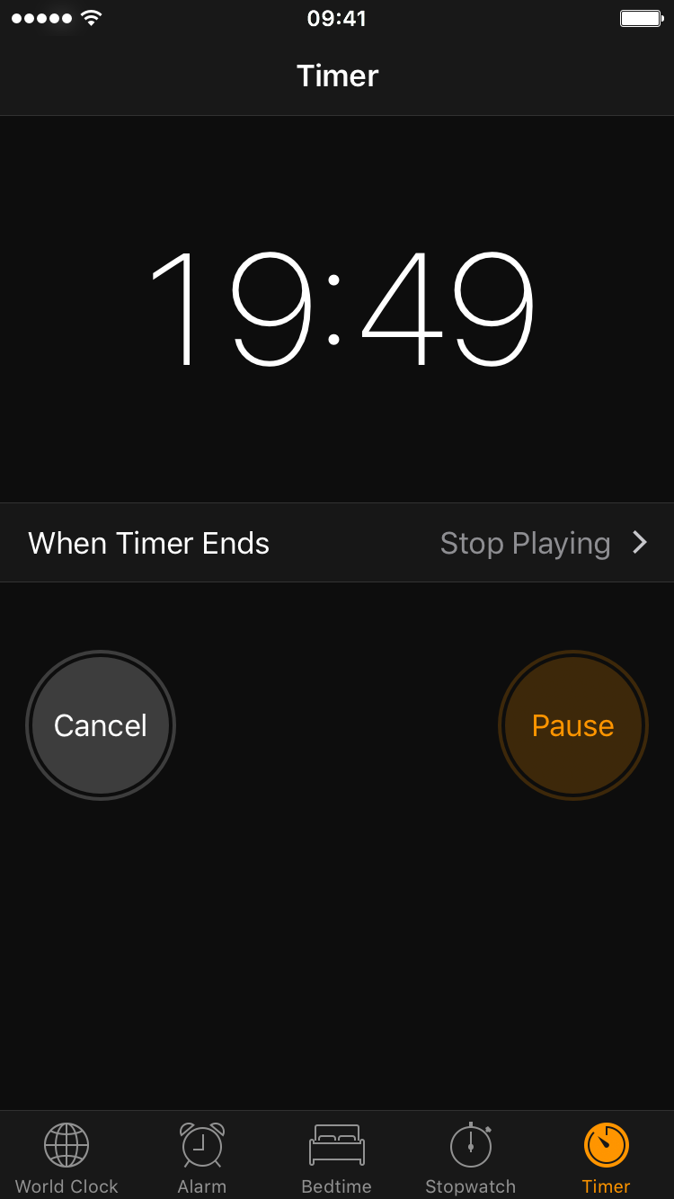 How to set a timer to automatically stop playing music or