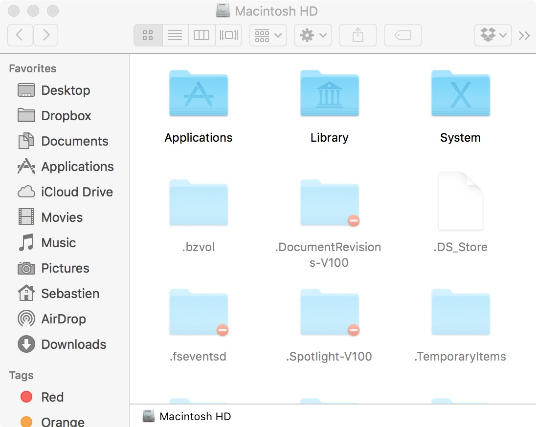 view hidden files and folders on mac