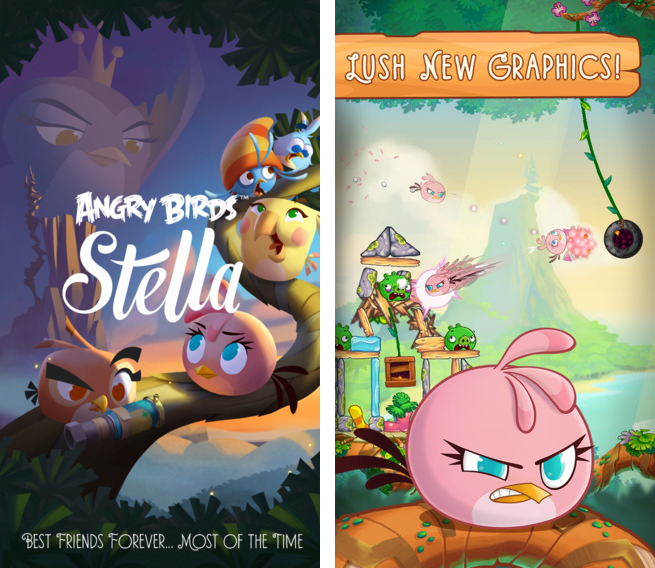 Angry Birds Stella 1.0 for iOS (iPhone screenshot 001)