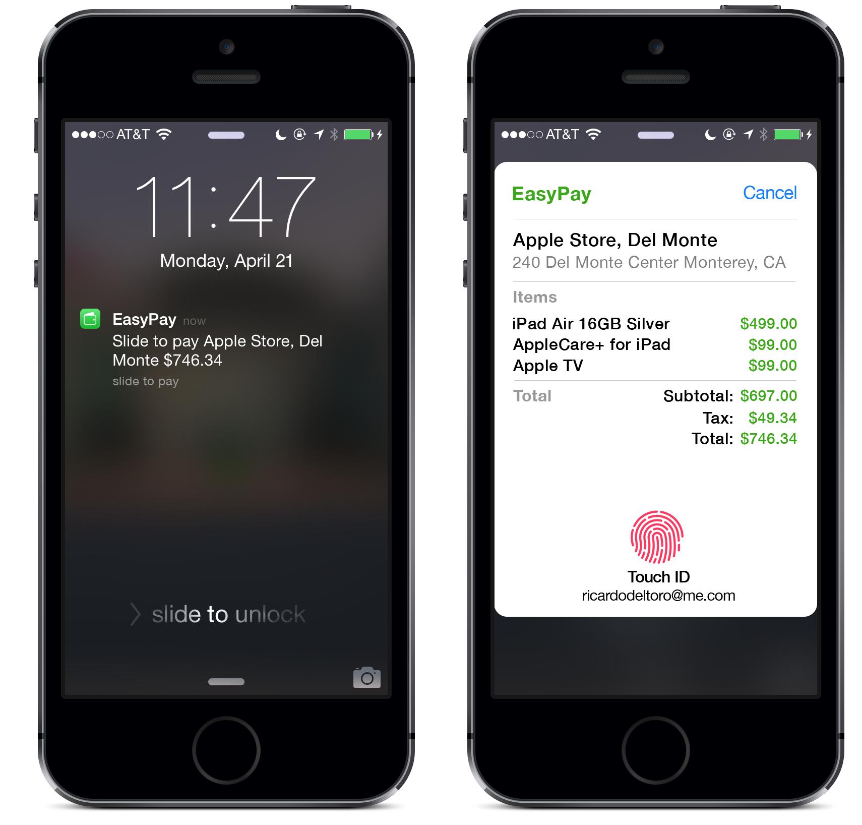 Apple EasyPay concept (Ricardo Del Toro 001)